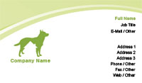 Green Animal Boarding Business Card Template